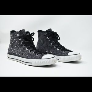 Converse High Top Studded Animal Print Sneakers